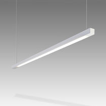 Hanging light fixture / LED / linear / metal