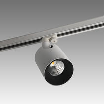 HID track light / round / metal / commercial