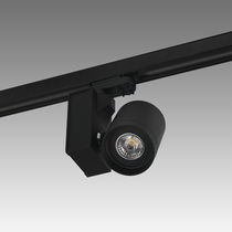 LED track light / round / metal / commercial