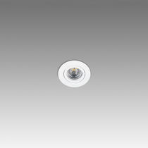 Recessed downlight / LED / halogen / round