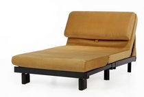 Contemporary armchair / synthetic leather / bed