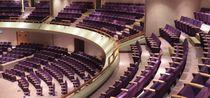 Auditorium armchair / contemporary / folding / tablet