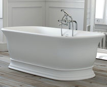 Free-standing bathtub / oval / composite