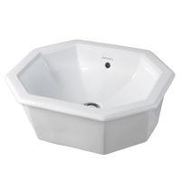 Built-in washbasin / octagonal / ceramic / contemporary