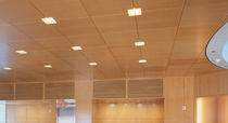 Metal suspended ceiling / wooden / panel / acoustic