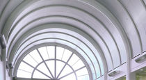 Metal suspended ceiling / panel / acoustic / curved