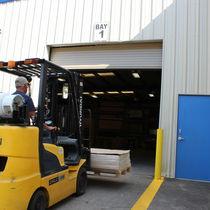 Roll-up industrial door / galvanized steel / high-performance / insulated