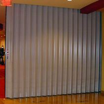 Folding partition / aluminum / professional / acoustic