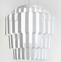 Pendant lamp / contemporary / glass / steel