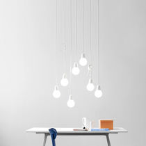 Pendant lamp / original design / aluminum / glass