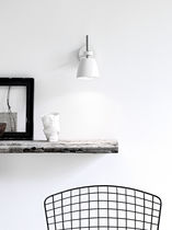 Contemporary wall light / steel / chromed metal / ABS