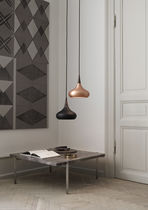 Pendant lamp / contemporary / wooden / black