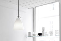 Pendant lamp / contemporary / glass / opalescent glass