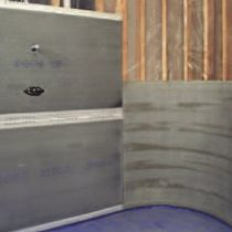 Fiber-reinforced concrete panel / construction / cover / wall-mounted