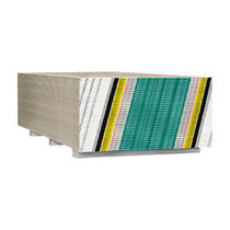 Reinforced plasterboard / fire-retardant / wall-mounted / smooth