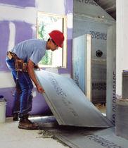 Fiber-reinforced concrete panel / cover / for interior fittings / for floors