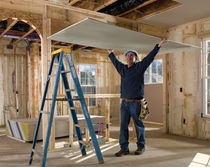 Insulated plasterboard / GreenGuard® certification / low-VOC / interior