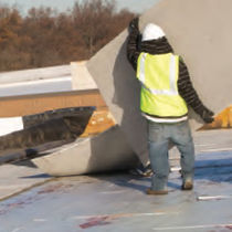 High-resistance plasterboard / fire-retardant / for roofs