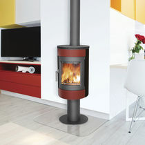Wood heating stove / contemporary / metal / RT 2012