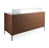 Upright reception desk / laminate / for hairdressers