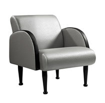 Fabric visitor armchair / gray / for hairdressers