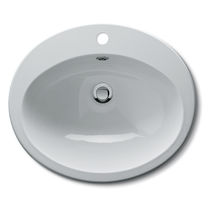 Built-in washbasin / oval / ceramic / traditional