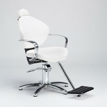 Metal makeup chair / synthetic leather / with hydraulic pump / adjustable