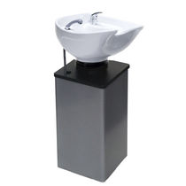 Free-standing washbasin / metal / contemporary / for hairdressers