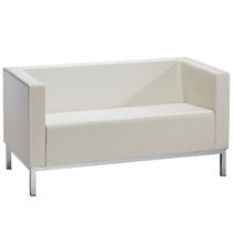 Contemporary sofa / leather / for beauty salons / 2-seater