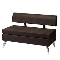Contemporary sofa / leather / for beauty salons / commercial