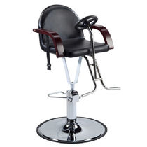 Metal beauty salon chair / with hydraulic pump / central base