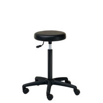 Contemporary stool / synthetic leather / for beauty salons / upholstered