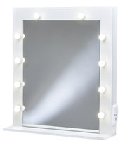 Wall-mounted mirror / LED-illuminated / rectangular / for beauty salons