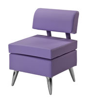 Contemporary visitor chair / fabric / for beauty salons / violet