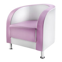 Leather beauty salon chair / pink