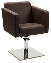 Styling armchair / swivel / with hydraulic pump / central base