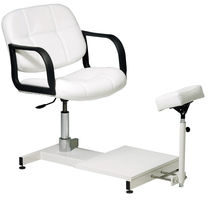 Vinyl pedicure chair / with hydraulic pump