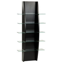 Wall-mounted display rack / beauty product / wooden / for hairdressers