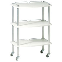 Metal trolley / for beauty salons