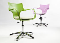 Styling armchair / star base / polymethacrylate / for beauty salons