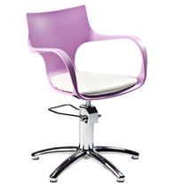 Polymethacrylate beauty salon chair / star base / green / pink