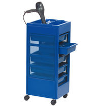 Treatment trolley / plastic / for hairdressers