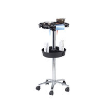 Treatment trolley / metal / for hairdressers