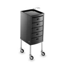 Treatment trolley / metal / plastic / for hairdressers