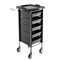 Treatment trolley / steel / plastic / for hairdressers