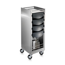 Treatment trolley / stainless steel / for beauty salons