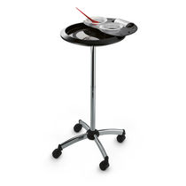 Treatment trolley / aluminum / for hairdressers