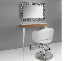 Wall-mounted mirror / contemporary / rectangular / for beauty salons