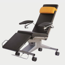 Medical armchair / contemporary / steel / coated fabric