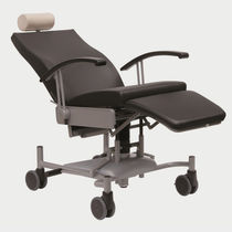 Medical armchair / contemporary / steel / adjustable-height